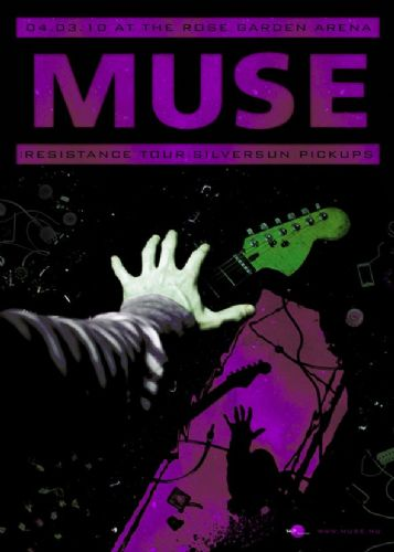 MUSE - LIVE CONCEPT ART PURPLE canvas print - self adhesive poster - photo print